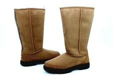 UGG ULTIMATE TALL BRAID CHESTNUT TWINFACE SHEEPSKIN COLD WEATHER BOOTS SIZE 7 US