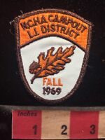 Vtg 1969 LONG ISLAND DISTRICT NCHA CAMPOUT New York Patch - LEAF S70X