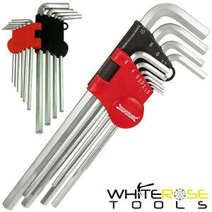 Silverline Allen Key Set Metric Hex 1.5-10mm Expert Steel Socket Wrench 10pc