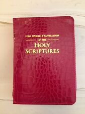 NEW WORLD TRANSLATION BIBLE COVER, RED GATOR, JEHOVAH'S WITNESS
