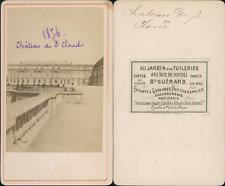 Guérard, Château de Saint-Cloud Vintage CDV albumen carte de visite CDV, tir
