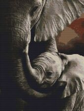 PUNTO Croce Kit-Elefante & Baby 22CM x 29CM