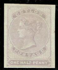 Ceylon 1857 1/2d Dull Mauve SG17 Very Fine Unused Cat. £190.00