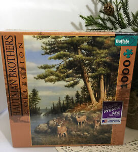 New in Box Hautman Brothers 1000 Piece Jigsaw Puzzle * Deer and Pines
