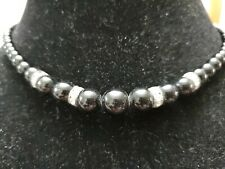 Small Black And Rhinestone Necklace