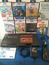 Sega Master System Console Bundle With 8 Boxed Games And 1 Controller