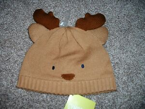 Gymboree Baby Boys Holiday Shop Reindeer Sweater Hat Size 0-6 12-24 months NWT