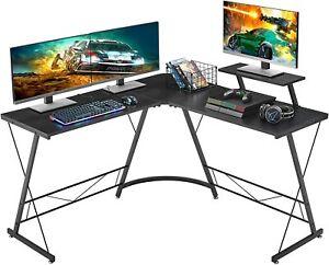 "L Shaped Gaming Desk, 51"" Home Office Desk with Round Corner Computer Desk, US"