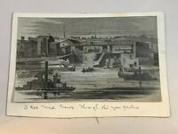 Vintage Newspaper Photo Print Erie Canal Hudson River Albany NY