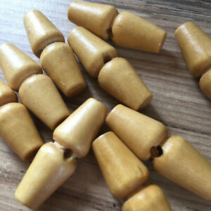 WOODEN TOGGLES X 5 - 1-HOLE TRADITIONAL. 20 MM- 40MM