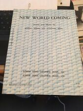 Vtg Sheet Music: New World Coming , Barru Mann and Cynthia Weil 1970