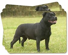Black Staffordshire Bull Terrier Picture Placemats in Gift Box, AD-SBT1P