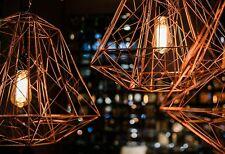 Copper Wire Lamp Geometric Pendant Light Contemporary Ceiling Light