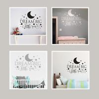 Dream Big Little One Wall Sticker Decal Quote Nursery Bedroom Children's Decor