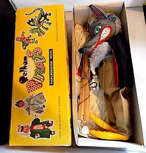 Vintage Pelham Puppets SL21 Wolf String Puppet, Made in England EXiB