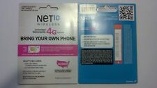 Net 10 Wireless Dual Sim Card - Bring Your Own Phone Access Kit for T-Mobile.