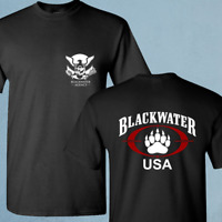New Blackwater Agency Academy  USA Triple Canopy Private Military Black T Shirt