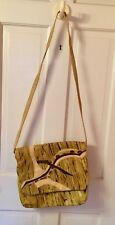 """VTG CARLOS FALCHI Large  Leather Shoulder Messenger Bag Purse 12""""x13.5"""""""
