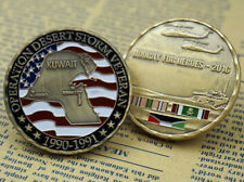 US Army Military Kuwait Desert Storm Veteran / Campaign Ribbon - Challenge Coin