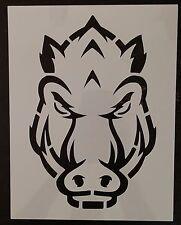 """Arkansas Razorback Razorbacks Razor Back 8.5"""" x 11"""" Stencil FAST FREE SHIPPING"""