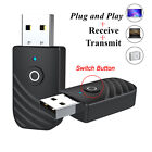 Wireless USB Bluetooth 5.0 Audio Transmitter Receiver 2in1 Adapter For TV PC  GR