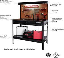 Multi Purpose Workbench Garage Tools Cabinet Storage Organizer W/ Work Light