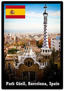 Park Güell, Barcelona, Spain - SOUVENIR NOVELTY FRIDGE MAGNET - BRAND NEW - GIFT