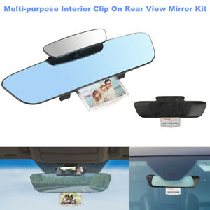 Car 330mm 3000R Wide Convex Curve Interior Clip On Rear View Mirror Extender Set