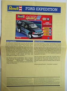 """Bauanleitung Ford Expedition  von Revell 07108-0389 """"Easy Kit"""" in 1/25 von 2001"""