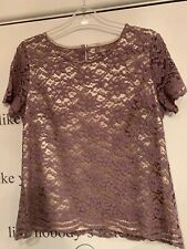 Ladies Lace Top Lilac Size 16 Soon Matalan