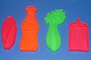 Mattel Plastic Tuff Stuff Play Toy Food Set 4 Pieces 1972 Soda Corn Celery Milk