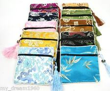Wholesale 10pcs Square Embroidery Brocade Silk Coin Bags,Purse,Jewelry Bags