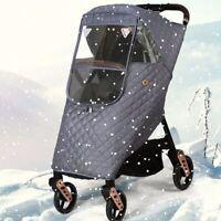 Baby Stroller Rain Cover Carrier Outdoor Travel Waterproof Folding Transparent D