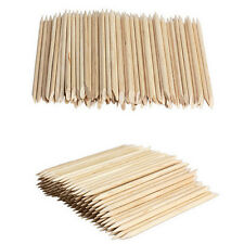 100X Nail Art Design Orange Wood Stick Cuticle Pusher Remover Manicure Care NEW