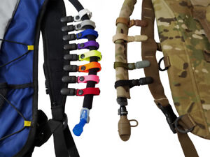 Details about  /DRINKING TUBE CLIP ROTATABLE Molle Hydration Bladder Drinking Tube Trap Hose Web