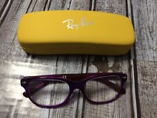 Ray-Ban Junior RB 1555 3666 Kid's Clear Purple Pink Eyeglasses Frames 48-16 130