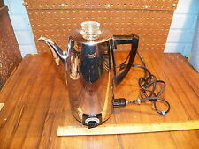 Vintage 1950's SUNBEAM Chrome Electric Percolator AP 10 Cup Coffee Maker Pot