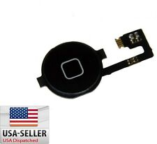 Black Home Menu Button Flex Cable + Key Cap assembly for Apple iPhone 4 4G