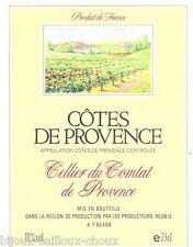 étiquette vin non datée COTES DE PROVENCE cellier du comtat wine label
