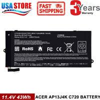 for Acer Chromebook C720 C720P C740 Battery 11.4V 45Wh AP13J4K