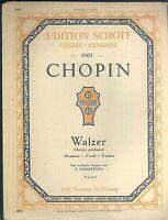 Chopin - Walzer E moll ~ übergroße, alte Noten
