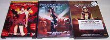 Resident Evil WS EXTINTION WS APOCALYPSE FS - 3 DVD LOT Milla Jovovich LIKE NEW