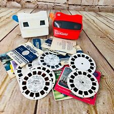 Retro Viewmaster 3D x 2 /w X Reels & Booklets White Red Toy Story