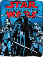 PLUSH SOFT Star Wars Kylo Ren Storm TroopersForce  super soft throw blanket NEW