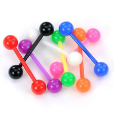 8 lot FLEXIBLE Bar UV Balls Barbells Tongue Nipple Rings Studs Piercing Jewelry