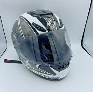 Scorpion EXO 700 Full Face Motorcycle Helmet Black White Small Adult Dot Snell
