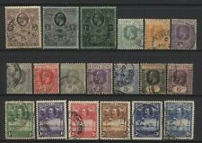 Sierra Leone 1912 - 1932 Collection 19 KGV Stamps Used