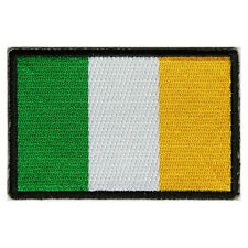 Embroidered Ireland Irish Flag Sew or Iron on Patch Biker Patch