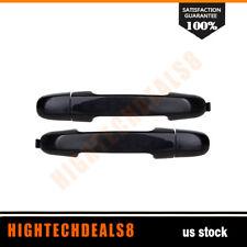 For 06-10 Hyundai Elantra Door Handles Rear Driver Passenger Exterior Black Pair
