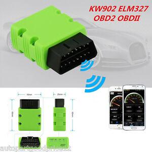 KW902 ELM327 Bluetooth Wireless OBD2 OBDII Interface Car Scanner Diagnostic Tool